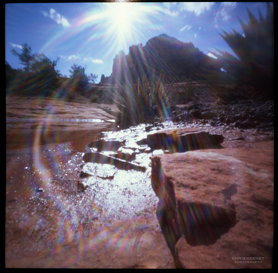 sedona pinhole photography light flare