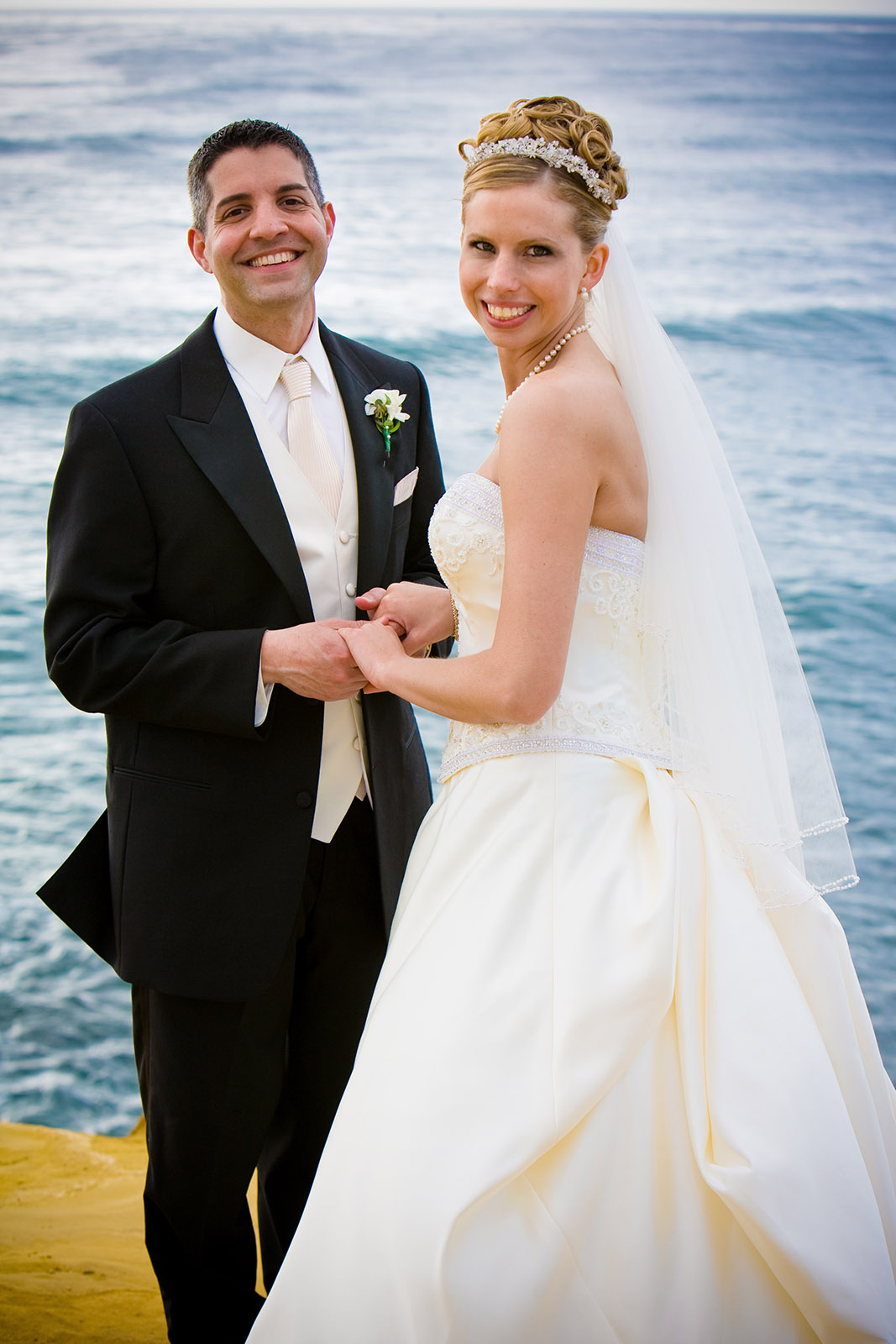 Wedding Bride And Groom At Sunset Cliffs San Go California